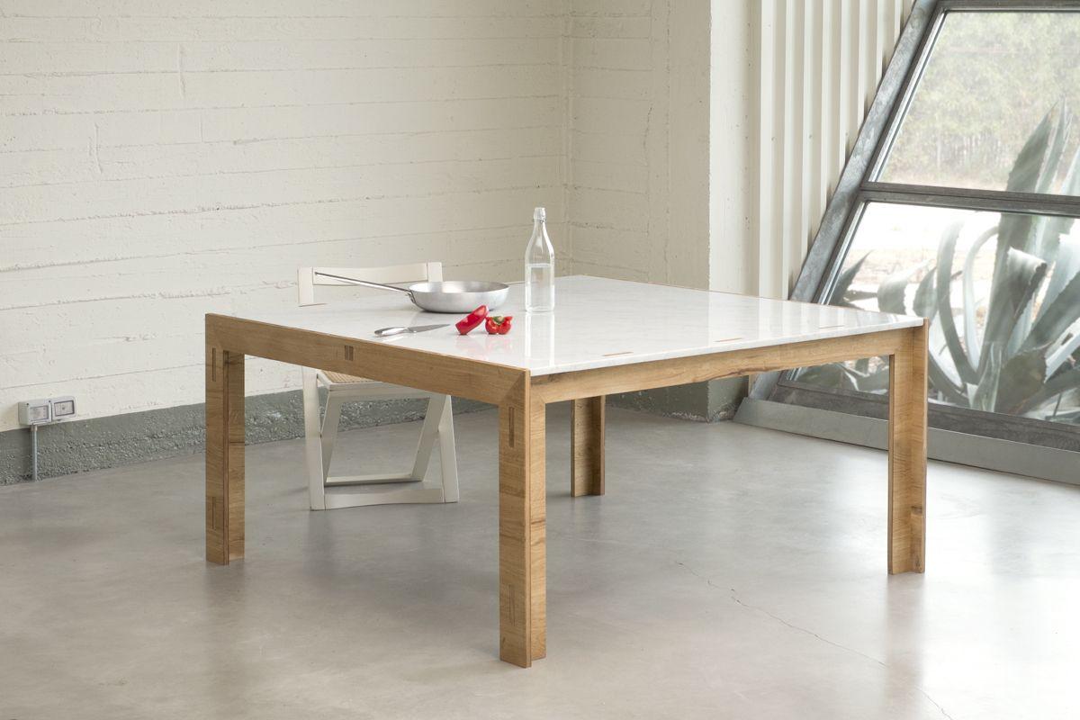 Nodoo tavolo in legno for Tavolo cucina piano marmo