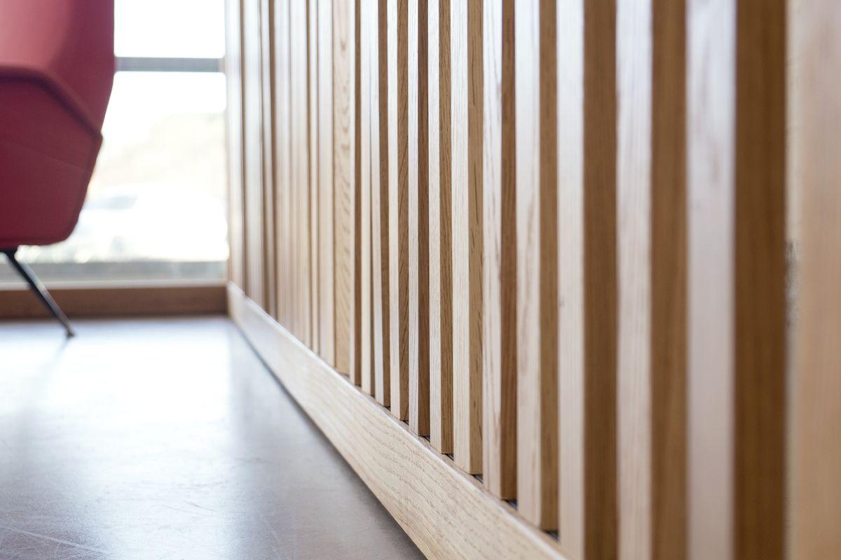 Pareti in listelli di legno