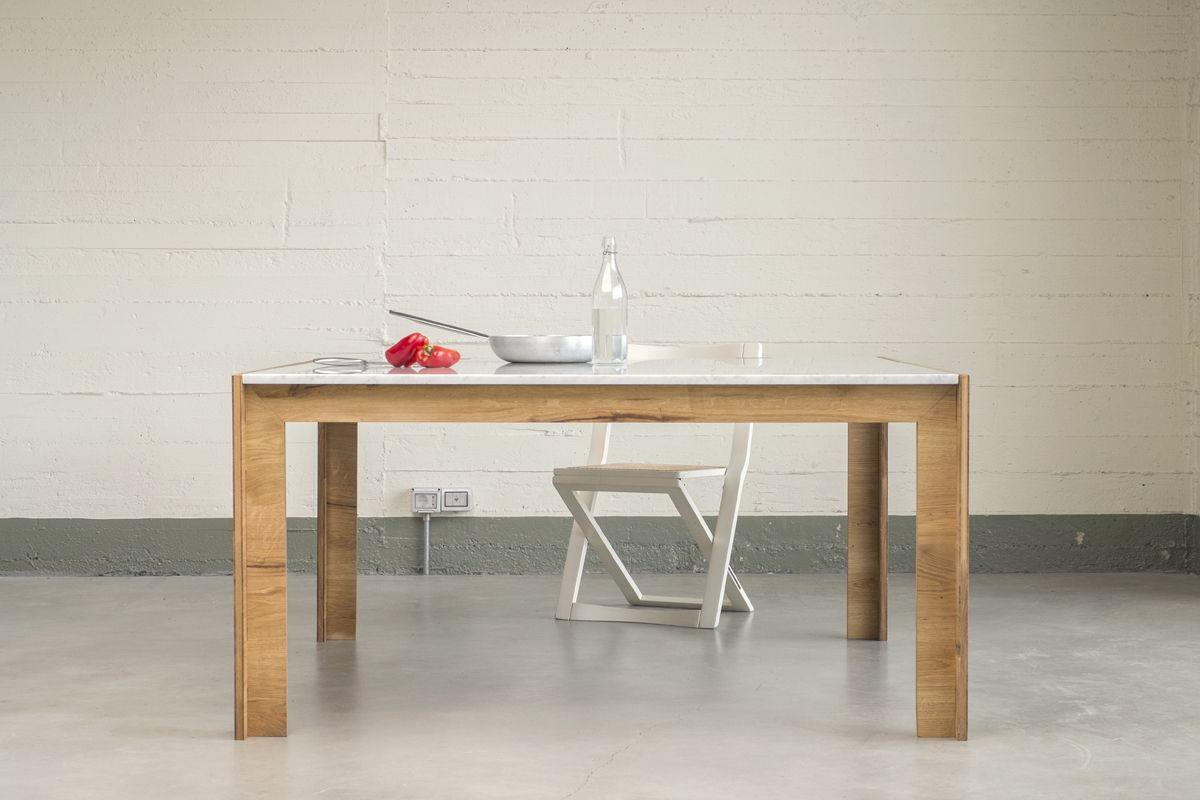 Nodoo tavolo in legno for Tavolo legno piano marmo
