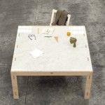 Tavolo piano in marmo di carrara